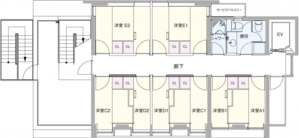 3~7Fの図